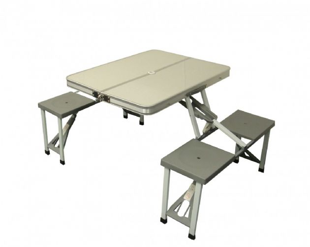 Sunncamp Aluminium Picnic Table & Chairs, Camping & Outdoor Table - Grasshopper Leisure